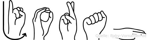Jorah im Fingeralphabet der Deutschen Gebärdensprache