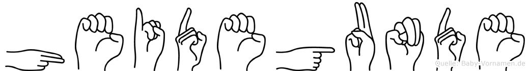 Heidegunde in Fingersprache für Gehörlose