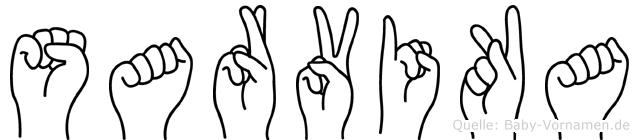 Sarvika in Fingersprache für Gehörlose