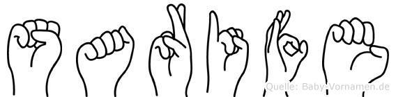 Sarife in Fingersprache für Gehörlose