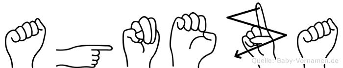 Agneza im Fingeralphabet der Deutschen Gebärdensprache