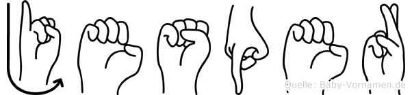 Jesper im Fingeralphabet der Deutschen Gebärdensprache