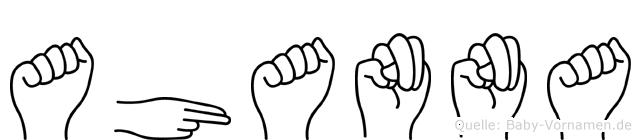 Ahanna im Fingeralphabet der Deutschen Gebärdensprache