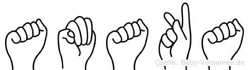 Amaka im Fingeralphabet der Deutschen Gebärdensprache