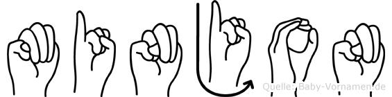 Minjon in Fingersprache für Gehörlose