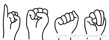 Isan in Fingersprache für Gehörlose