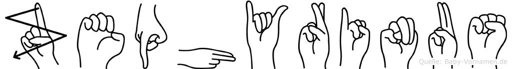 Zephyrinus im Fingeralphabet der Deutschen Gebärdensprache