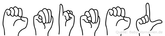 Eminel im Fingeralphabet der Deutschen Gebärdensprache