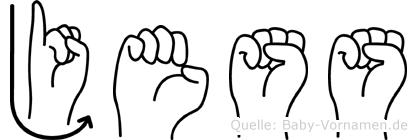 Jess in Fingersprache für Gehörlose