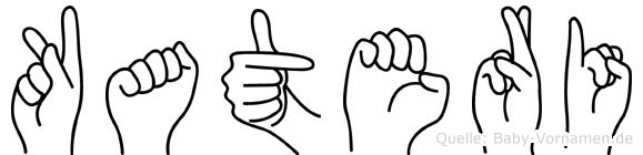 Kateri im Fingeralphabet der Deutschen Gebärdensprache