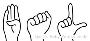 Bal in Fingersprache für Gehörlose
