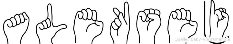 Aleksej in Fingersprache für Gehörlose