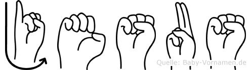 Jesus in Fingersprache für Gehörlose