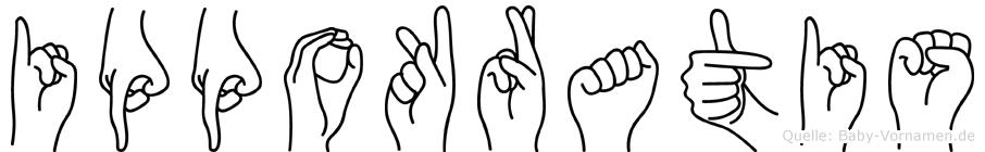 Ippokratis im Fingeralphabet der Deutschen Gebärdensprache