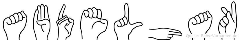 Abdelhak im Fingeralphabet der Deutschen Gebärdensprache