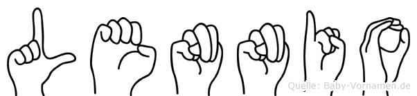 Lennio in Fingersprache für Gehörlose