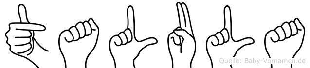 Talula in Fingersprache für Gehörlose