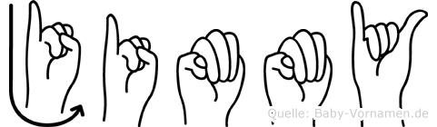 Jimmy im Fingeralphabet der Deutschen Gebärdensprache