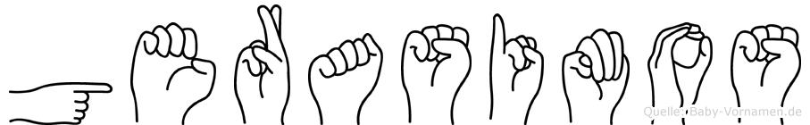 Gerasimos im Fingeralphabet der Deutschen Gebärdensprache