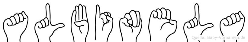 Albinela in Fingersprache für Gehörlose