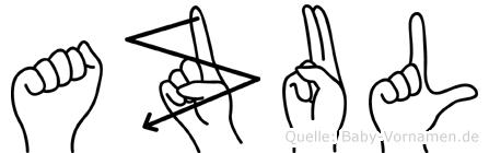 Azul in Fingersprache für Gehörlose