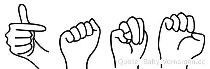 Tane in Fingersprache für Gehörlose