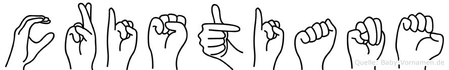 Cristiane in Fingersprache für Gehörlose