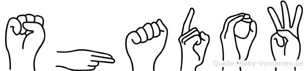 Shadow in Fingersprache für Gehörlose