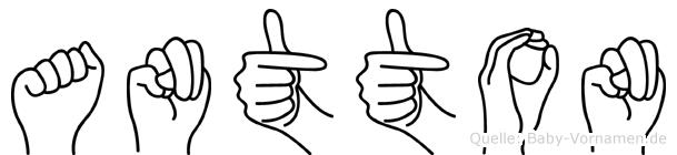 Antton in Fingersprache für Gehörlose