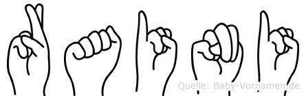 Raini in Fingersprache für Gehörlose