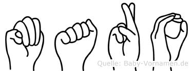 Maro im Fingeralphabet der Deutschen Gebärdensprache