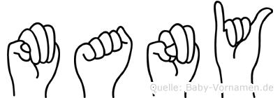 Many im Fingeralphabet der Deutschen Gebärdensprache