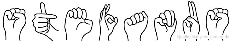 Stefanus im Fingeralphabet der Deutschen Gebärdensprache