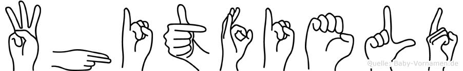 Whitfield im Fingeralphabet der Deutschen Gebärdensprache