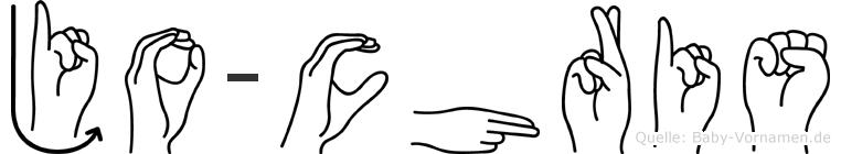 Jo-Chris im Fingeralphabet der Deutschen Gebärdensprache