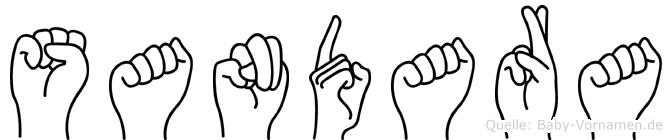 Sandara im Fingeralphabet der Deutschen Gebärdensprache