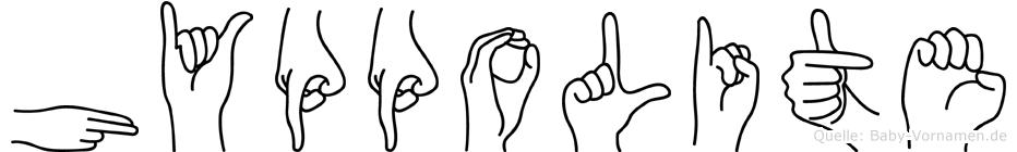 Hyppolite in Fingersprache für Gehörlose