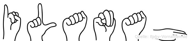 Ilanah in Fingersprache für Gehörlose