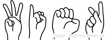 Wiek in Fingersprache für Gehörlose