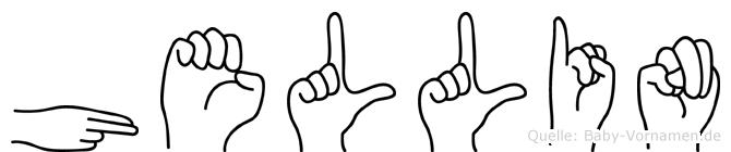 Hellin in Fingersprache für Gehörlose