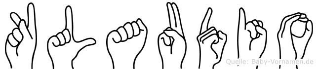 Klaudio im Fingeralphabet der Deutschen Gebärdensprache
