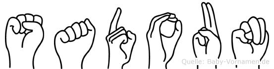 Sadoun im Fingeralphabet der Deutschen Gebärdensprache