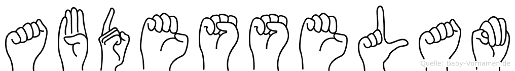 Abdesselam in Fingersprache für Gehörlose