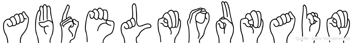 Abdelmounaim im Fingeralphabet der Deutschen Gebärdensprache