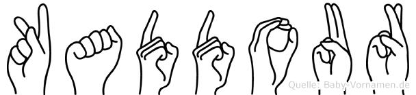 Kaddour im Fingeralphabet der Deutschen Gebärdensprache