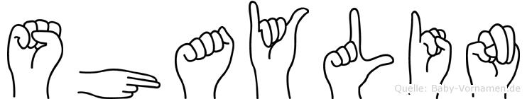 Shaylin in Fingersprache für Gehörlose