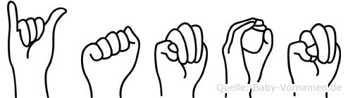 Yamon im Fingeralphabet der Deutschen Gebärdensprache