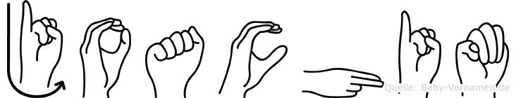 Joachim in Fingersprache für Gehörlose
