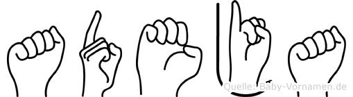 Adeja in Fingersprache für Gehörlose