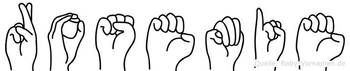 Rosemie in Fingersprache für Gehörlose